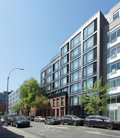 Image 1 of 20 from gallery of 100 Steuben Street / AB Architekten. Photograph by Grzegorz Hajdo Clinton Hill, Metal Cladding, Brooklyn, Brick Facade, Passive House, Interior Photography, Outdoor Spaces, Townhouse, The Neighbourhood