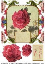 Victorian Square Floral 4