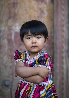 ˚Uyghur little girl, Xinjiang, China