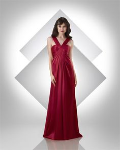 This is the Martenity Version of this style Charmeuse dress; draped criss cross V-neckline; shirred bodice