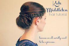Kate Middleton Hair Tutorial - Fashion - Rags to Stitches