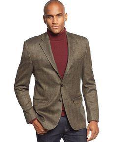 Lauren Ralph Lauren Olive Herringbone Windowpane Sport Coat - Blazers & Sport Coats - Men - Macy's