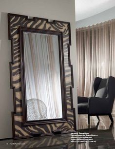 Hooker Prints: Zabra mirror Inject a splash of exotic in your room with the Zebra Mirror in Hardwood Solids and Veneers, Mirror