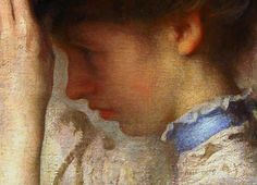 "Edmund Charles Tarbell (1852-1938). Detail. Preparing for the Matinee, 1907. Oil on canvas, 45.5"" x 35.5"" at the Indianapolis Museum of Art"
