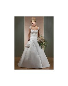 Satin Sweetheart A-line Chapel Train Draping Wedding Dress at Persun.co.uk