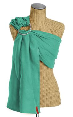 Simple Linen Baby Sling (Caribbean)- Made of the finest Irish linens. Naturally antibacterial, cool to wear, and perfect for all climates, linen is also easy to care for and becomes softer and stronger over time.   Handcrafted from a double layer of linen, each sling is lightweight, breathable, and adjustable.