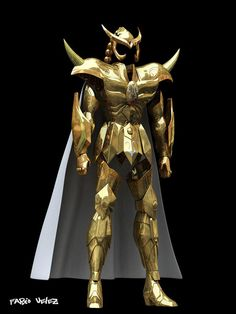 Las 2 armaduras doradas reales17