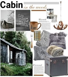 """Cabin in the Woods"" by barngirl ❤ liked on Polyvore"