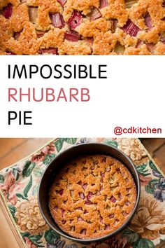 Discover our quick and easy recipe for Cadiz Bread on Current Cooking! Find the preparation steps, tips and advice for a successful dish. Rhubarb Desserts, Rhubarb Recipes, Fruit Recipes, Pie Recipes, Dessert Recipes, Cooking Recipes, Recipies, Family Recipes, Rhubarb Dishes