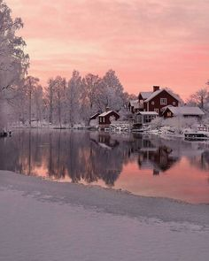 Winter dawn in Falun (Sweden) by Maria Anderhell Winter Photography, Landscape Photography, Nature Photography, Travel Photography, Winter Szenen, Winter Travel, Winter Magic, Winter Light, Snow Scenes
