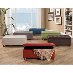 Kinfine USA Large Leatherette Storage Bench | from hayneedle.com