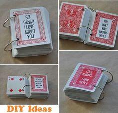 Puedes utilizar una baraja para escribir en su reverso las cosas que te gustan de esa persona especial ;) ¡Seguro que se sorprende!