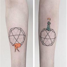 #lepetitprince #tattoo #geometric #minimal