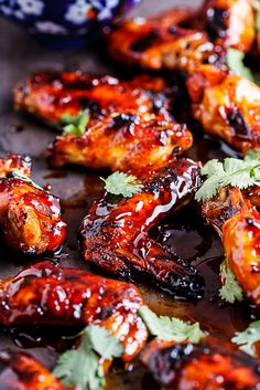 Sticky Sriracha-Honey Chicken Wings