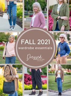 Fall favorites for women 40 and 50+, Casual Denim Looks, Jackets and bags for Fall