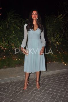 Deepika Padukone at Farah Khan's birthday bash.