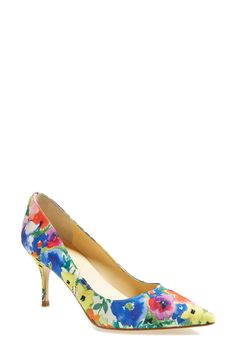 Yes, to floral shoes   Ivanka Trump 'Boni' pointy toe pump.