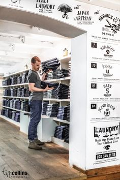 DENHAM The Jeanmaker Store in Amsterdam.  by Tim Collins, via Behance