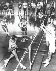 This is the only known playing photo of the legendary coach and player Al Scates of UCLA, who just retired after 50 years with the program.