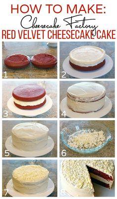 How to make red velvet cheesecake cake