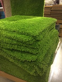 """Grass carpet squares"" from IKEA. Perfect for a Reggio inspired environment."