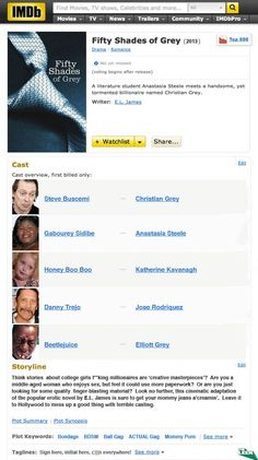 'Fifty Shades of Grey' Movie Cast Announced!! ;)