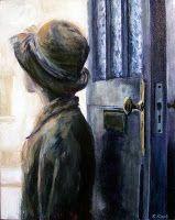 Blue door | 2009 Acrylic on canvas | 400 x 500 #RosKochArt