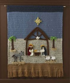 Watch Maggie review this beautiful Nativity Afghan and Wall Hanging! Design by: Rosemarie Murray, Marie Fagan & Maggie Weldon Skill Level: Easy Size: Wallhanging: 33″ wide x 36″ tall; Afghan: 46″ wide