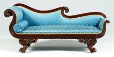 victorian empire sofa blue - Google Search