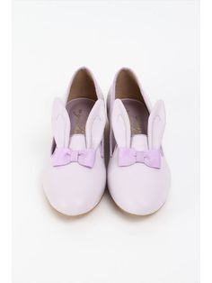Rabbit Ear Japanese Lolita Style Shoes in Pink on Pink