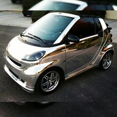 Metallic wrapped fun. Photo via @ignorant_tryst #smart #smartcar