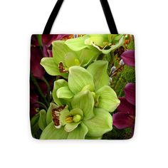 Tote Bag - Click on the image for a larger view and to leave comments.#Framed #Print #Spring #Floral #MasArtStudio #MarthaAnnSanchez #Blue #Orange #Yellow #Green #Purple #Contemporary #Modern  #Tote #Bag