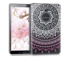 "Coque Samsung Galaxy Tab A6 10.1"" 2016 design fleur rose"