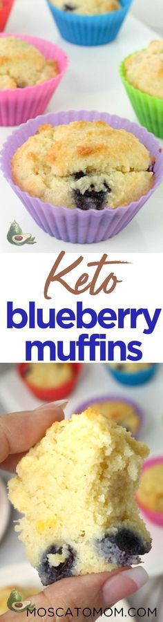 This Keto Blueberry Muffins Recipe will be your new go-to low carb breakfast. So delicious you will never believe they are low carb. Made with almond flour these muffins are a gluten free family favorite. Keto Blueberry Muffins, Blue Berry Muffins, Awesome Food, Good Food, Muffin Recipes, Keto Recipes, Baking Cups, Low Carb Breakfast, Deserts