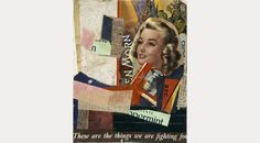 "Kurt Schwitters, En morn, 1947. Schwitters proto-Pop collage. Apparently predates even Paolozzi's ""I was a rich man's plaything."" Of Schwitters' 1959 show at Sidney Janis Gallery, Rob't Rauschenberg said, ""I felt like he made it all just for me."""