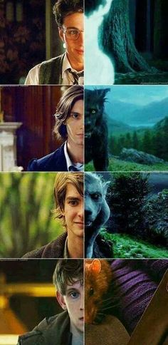 The Maurders - I love how whoever made this has Andrew Garfield as my favorite Maurder: Remis Lupin.
