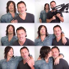 Norman Reedus and Andrew Lincoln. #Rickyl More
