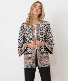 1.2.3 Paris - Les looks printemps-été 2017 - #Kimono imprimé Ugo 119€ #123paris #mode #fashion #shopping #ootd #prints