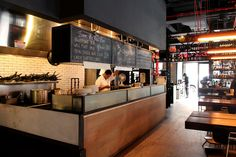 ogawa depardon architects » fabbrica bar & restaurant Restaurant Bar, Architects, Ceiling, Building Homes