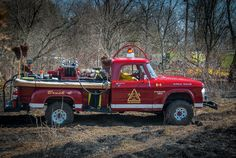1960's Dodge Power Wagon brush fire truck still in use by our local volunteer fire dept. When trucks were trucks...