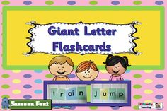 Phonics | Letter Sounds | Giant Letter Flash Cards | Sassoon Font | Grades k-2 I found my students really enjoyed these cards as they explored sounds and created words on their own! What a wonderful word work resource for teachers using Jolly Phonics, Reading Specialists, Learning Resource Teachers, Special Education Teachers, Classroom Teachers, Homeschool, and Parents. Directions: Copy the GIANT Letters onto cover stock. You need three colours of paper for the transparent alphabet. Copy…