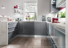 Xeno anthracite ultra high gloss kitchen