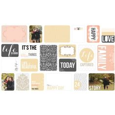Cartes et étiquettes Made Easy ' We R Memory Keepers' Hello Life