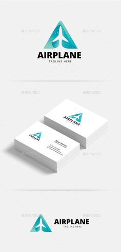 Letter A Airplane Logo - Letters Logo Templates Download here : https://graphicriver.net/item/letter-a-airplane-logo/20502408?s_rank=215&ref=Al-fatih
