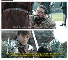 Ok this is not how Peter acts or talks at all but it's still funny and let's not forget to add that in that battle he also fought  the white witch