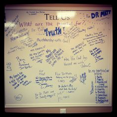 What our patients are thankful for!