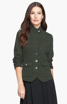 Sales Eileen Fisher Felted Wool Jacket Petite online - Soft felted wool comprises a three button jacket detailed with raised seams button flap patch pockets and a. Felted Wool, Wool Felt, American Women, American Apparel, Cutaway, Jacket Buttons, Eileen Fisher, Nordstrom, Clothes For Women