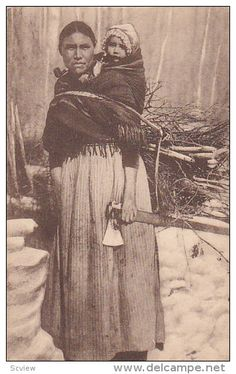 """Indian Woman with axe in hand , l'Extreme-Nord Canadian , """" Native American History, American Indians, Seminole Indians, Native Canadian, Indian Tribes, West Indian, Original Image, Old Pictures"""