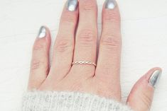 Silver Twisted Ring   Hammered Braided Ring   Solitaire Ring   Dainty Woven Ring   Minimalist Ring Double Strand Twist, Braided Ring, Everyday Rings, Twist Ring, Handmade Rings, Knuckle Rings, Round Earrings, Solitaire Ring, Minimalist