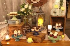 This wedding had themes of rustic, vintage, natural, neutrals, baby's Breath & Greenery, Clear Bottles particularly with Typographical Interest, Ampersands, Pastel Blues and Greens @khimairafarm cupcakes and mini parfaits by @bijoussweets